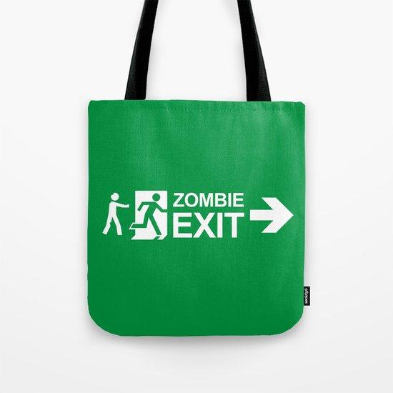 Zombie Exit Tote Bag