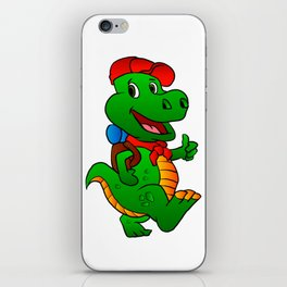 Dino hiker. iPhone Skin