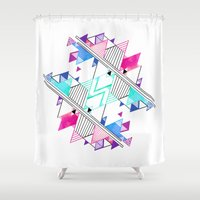 bright Shower Curtains featuring Bright by Jozi