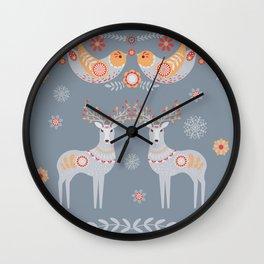 Nordic Winter Wall Clock