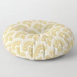 Fan Pattern Gold 201 Floor Pillow