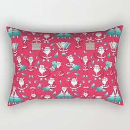 Busy Santas III Rectangular Pillow