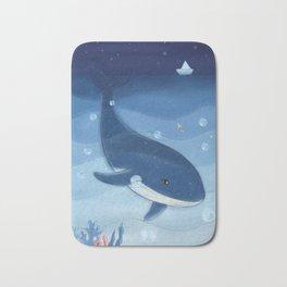 Mysterious Sea Dolphin Bath Mat