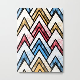 Peak pattern Metal Print