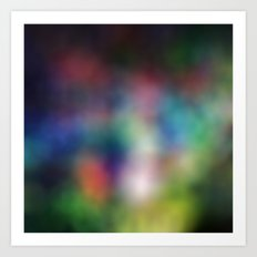 rainbowBlur Art Print