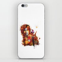 lara croft iPhone & iPod Skins featuring Lara Croft by ururuty