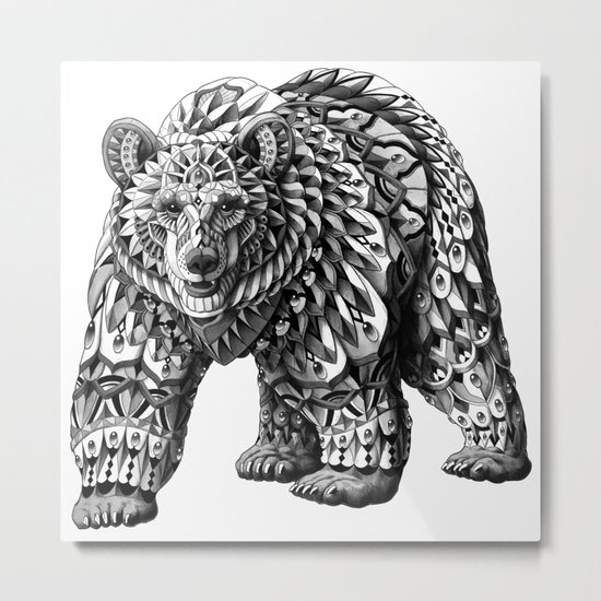 Ornate Bear Metal Print