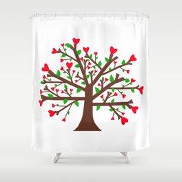 Tree of Love, Tree of Life Shower Curtain