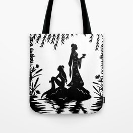 Lady White Snake Tote Bag