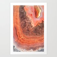 agate Art Prints featuring Agate by lescapricesdefilles