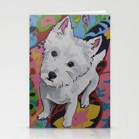 westie Stationery Cards featuring Pop Art Westie Named Poppy by Karren Garces Pet Art