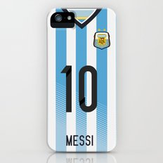 World Cup 2014 - Argentina Messi Shirt Style Slim Case iPhone (5, 5s)