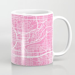 Atlanta map pink Coffee Mug