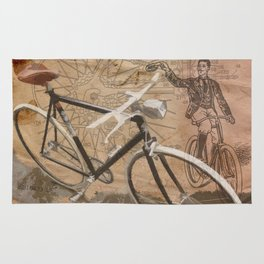 vintage bicycle hipster Rug