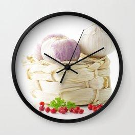 Garlic and hot pepper Wall Clock