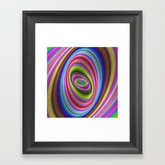 Colorful hypnosis Framed Art Print