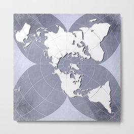planisphere silver mood Metal Print