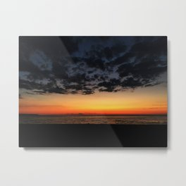 Sunset and beach Metal Print