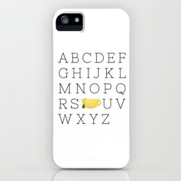 Alphabet Tea iPhone Case