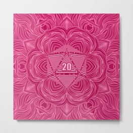 Natural 20 Mandala Seduced by a Bard Metal Print