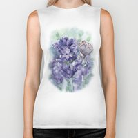 lavender Biker Tanks featuring Lavender by A cup of grey tea