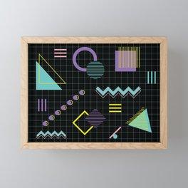 Memphis Pattern 4 - 80s Retro Framed Mini Art Print