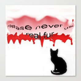 Never real fur Canvas Print