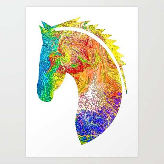 """""""Horse Colorful Silhouette"""" Art Print"""