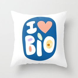 I LOVE BIOLOGY Throw Pillow