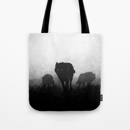 Black and White Wolfpack Tote Bag