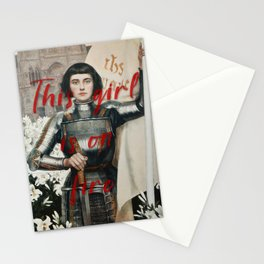 Joan D'arc, The girl on Fire Stationery Cards
