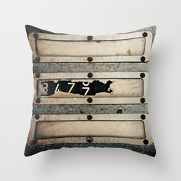 Industrial Numbers Throw Pillow