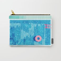 Chillin' - poolside palm springs vacation resort tropical swim swimming retro neon throwback 1980s Carry-All Pouch