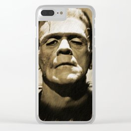 Boris Karloff as Frankenstein Clear iPhone Case