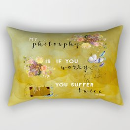 My philosophy Rectangular Pillow