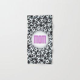 Soccer Mom / 3D render of hundreds of soccer balls framing Mom text Hand & Bath Towel
