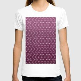 Plum Geometric Pattern T-shirt