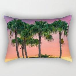 Sunset tropical vibes Rectangular Pillow