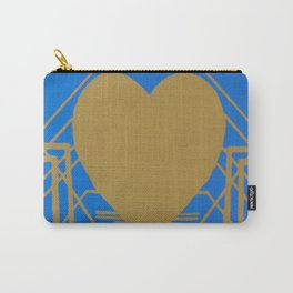 Heart Deco: Gaslight Blues Carry-All Pouch