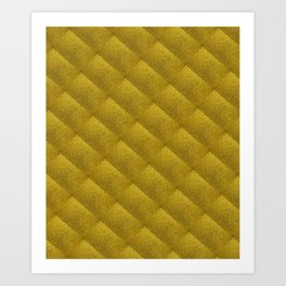 Gold Bars Pattern -Gold Lovers Design Art Print