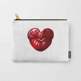 Heart Shaped Lips Carry-All Pouch