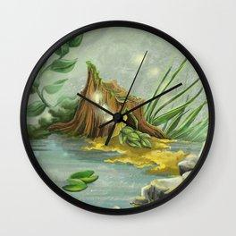 Fairy Lights Mossy Landscape Wall Clock