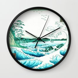 The Sea at Satta : Aqua Teal Wall Clock