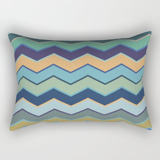 Colorful Wave II Rectangular Pillow