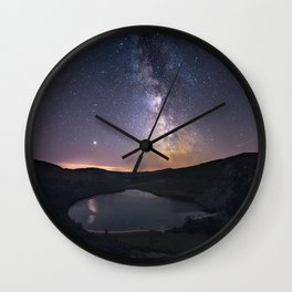 (RR 294) Milky Way above Lough Tay - Ire Wall Clock