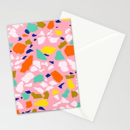 Terrazzo Pattern in Blush Stationery Cards