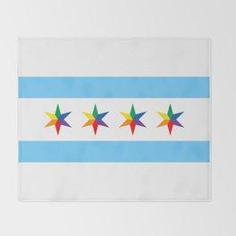 Chicago Pride Flag Throw Blanket
