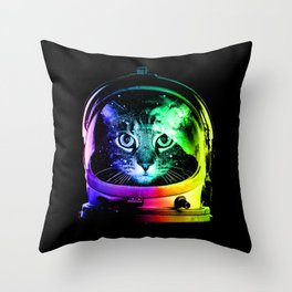 Astronaut Cat Throw Pillow