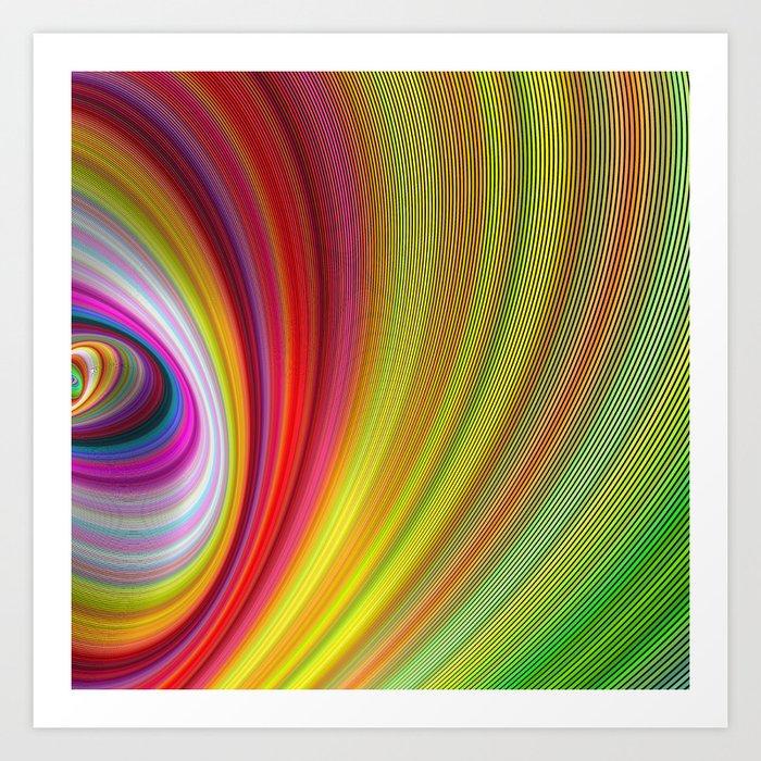 Vivid space Art Print