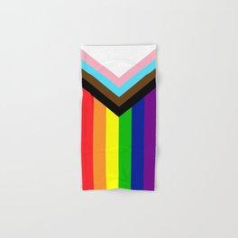LGBTQ+ Pride Flag Inclusive (LGBTQ+ Pride, Gay Pride) Hand & Bath Towel